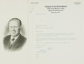 Autographs:U.S. Presidents, President Gerald Ford Typed Letter Signed....