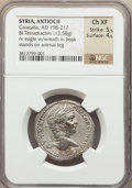 Ancients:Roman Provincial , Ancients: SYRIA. Antioch. Caracalla (AD 198-217). BIL tetradrachm(13.58 gm)....