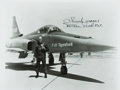 Autographs:Military Figures, Test Pilot Chuck Yeager Signed Photograph....