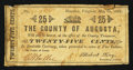 Obsoletes By State:Virginia, Staunton, VA-County of Augusta 25¢ May 25, 1862. ...
