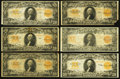 Large Size:Gold Certificates, A Dozen Circulated $20 Gold Certificates.. ... (Total: 12 notes)
