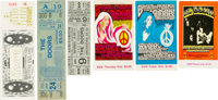 The Doors: Group of Six Unused Concert Tickets, 1967-1970