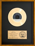 "Music Memorabilia:Awards, Pink Floyd ""Another Brick In The Wall"" RIAA Gold Record Award(Columbia 1-11187, 1979)...."
