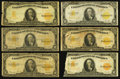 Large Size:Gold Certificates, A Sizable Group of Nine $10 Gold Certificates.. ... (Total: 9notes)