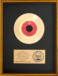 """Queen """"Another One Bites The Dust"""" RIAA Gold Record Award (Elektra E-47031, 1980)"""