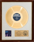 Music Memorabilia:Awards, Rolling Stones Aftermath White Matte RIAA Gold Record Award (London PS-476, 1966)....