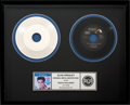"""Music Memorabilia:Recordings, Elvis Presley """"Rock-A-Hula Baby"""" Metal Master Disc, Framed, With 7""""Record (RCA PB-11102, 1977).... (Total: 2 )"""