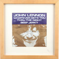 "Music Memorabilia:Autographs and Signed Items, The Beatles: John Lennon Signed 45 ""Whatever Gets You Through theNight"" (Apple Records, 1974)...."