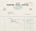 Music Memorabilia:Autographs and Signed Items, The Beatles: John Lennon Signed Invoice....