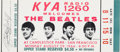 Music Memorabilia:Tickets, The Beatles: Unused Ticket to The Beatles' Final Commercial Concert, 1966....