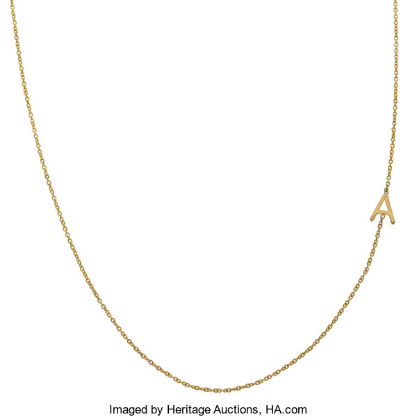 57c28fecd Gold Necklace, Maya Brenner. ... Estate Jewelry Necklaces | Lot ...