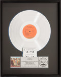 Music Memorabilia:Awards, Beatles Sgt. Pepper's Lonely Hearts Club Band RIAA PlatinumRecord Award (Capitol SMAS-2653, 1967)....