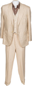 "Movie/TV Memorabilia:Costumes, A Sean Penn Three-Piece Period Suit from the Woody Allen Film ""Sweet and Lowdown.""..."