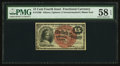 Fr. 1268 15¢ Fourth Issue PMG Choice About Unc 58 EPQ