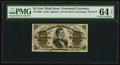 Fractional Currency:Third Issue, Fr. 1299 25¢ Third Issue PMG Choice Uncirculated 64 EPQ.. ...