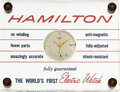 Timepieces:Other , Hamilton 500 Electric Jeweler's Display From John A. Van Horn, RenéRondeau Collection. ...