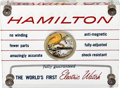 Timepieces:Other , Hamilton 500 Electric Display, René Rondeau Collection. ...