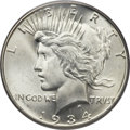 Peace Dollars, 1934-D $1 MS66 PCGS Secure. CAC....