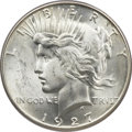 Peace Dollars, 1927-S $1 MS65 PCGS Secure. CAC....