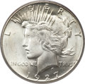 Peace Dollars, 1927 $1 MS65+ PCGS....
