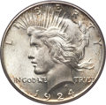 Peace Dollars, 1924-S $1 MS65 PCGS Secure. CAC....
