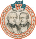 Political:Small Paper (pre-1896), Fillmore & Donelson: Jugate Paper Badge....