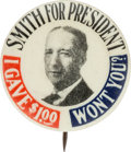 Political:Pinback Buttons (1896-present), Al Smith: Scarce Contributor's Pin....