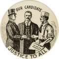 Political:Pinback Buttons (1896-present), Theodore Roosevelt: A Rare Variety of 1¼-inch Equality Button....