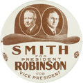 Political:Pinback Buttons (1896-present), Smith & Robinson: Large Brown Derby Jugate....