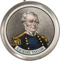 Political:Ferrotypes / Photo Badges (pre-1896), Zachary Taylor: Pewter Rim Medallion....