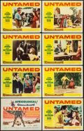 "Movie Posters:Adventure, Untamed (20th Century Fox, 1955). Lobby Card Set of 8 (11"" X 14"").Adventure.. ... (Total: 8 Items)"