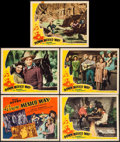 """Movie Posters:Western, Down Mexico Way (Republic, 1941). Title Lobby Card & Lobby Cards (4) (11"""" X 14""""). Western.. ... (Total: 5 Items)"""