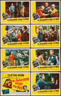 """Movie Posters:Comedy, Mr. Belvedere Rings the Bell (20th Century Fox, 1951). Lobby Card Set of 8 (11"""" X 14""""). Comedy.. ... (Total: 8 Items)"""