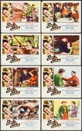 """Movie Posters:Action, A Bullet is Waiting & Other Lot (Columbia, 1954). Lobby Card Sets of 8 (2) (11"""" X 14""""). Action.. ... (Total: 16 Items)"""