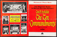 "The Ten Commandments & Others Lot (Paramount, 1956). Pressbook (24 Pages, 17"" X 22""), Uncut Pressbooks (4)..."