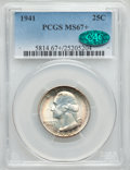 Washington Quarters, 1941 25C MS67+ PCGS. CAC....