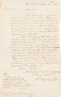 Autographs:U.S. Presidents, George Washington Autograph Letter Signed, With Initialed Postscript and Franking Signature. ...