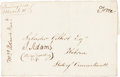 Autographs:U.S. Presidents, John Adams Address Panel Signed with a Free Frank Signature....