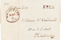 Autographs:U.S. Presidents, Thomas Jefferson Franking Signature on a Cover Addressed in HisHand....