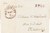 Thomas Jefferson Franking Signature on a Cover Addressed in His Hand