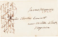Autographs:U.S. Presidents, James Monroe Franking Signature on a Cover Addressed in His Hand....