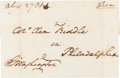 Autographs:U.S. Presidents, George Washington Address Panel Addressed in His Hand and Signed with a Free Frank Signature....