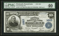 National Bank Notes:Pennsylvania, Pittsburgh, PA - $10 1902 Plain Back Fr. 624 The Exchange NB Ch. #1057. ...