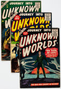 Golden Age (1938-1955):Horror, Journey Into Unknown Worlds #36, 43, and 56 Group (Atlas, 1955-57)Condition: Average VG+.... (Total: 3 Comic Books)