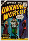 Golden Age (1938-1955):Horror, Journey Into Unknown Worlds #34 (Atlas, 1955) Condition: FN-....