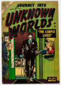 Golden Age (1938-1955):Horror, Journey Into Unknown Worlds #28 (Atlas, 1954) Condition: VG....