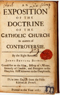 Books:Religion & Theology, James Benigne Bossuet. An Exposition of the Doctrine of the Catholic Church in Matters of Controversie. [N.p., 1687]...