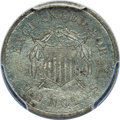 1863 10C Ten Cents, Judd-329, Pollock-399, Low R.6, -- Bent -- PCGS Genuine Secure. Unc Details. The obverse features an...