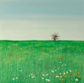 Fine Art - Painting, American:Contemporary   (1950 to present)  , Duane Albert Armstrong (American, b. 1938). Landscape with Grassand Flowers, 1968. Oil on canvas. 51-1/2 x 51-1/2 inche...