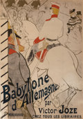 Fine Art - Work on Paper:Print, Henri de Toulouse-Lautrec (French, 1864-1901). Babyloned'Allemagne, 1894. Lithograph in colors. 48 x 33-3/4 inches(121...